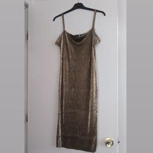 Boohoo gold dress